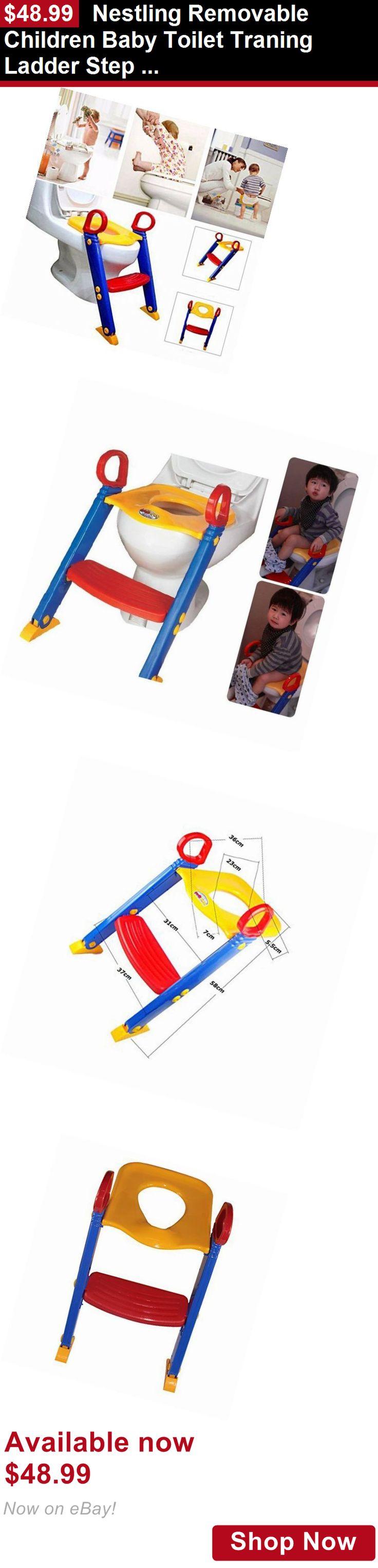 Potty Training: Nestling Removable Children Baby Toilet Traning Ladder Step Kids Toilet Potty Se BUY IT NOW ONLY: $48.99