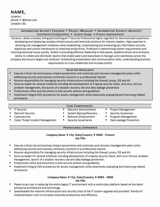 Cyber Security Analyst Resume Luxury Cyber And Information Security Resume Example And Tips Zipjob In 2020 Security Resume Resume Objective Examples Resume Examples