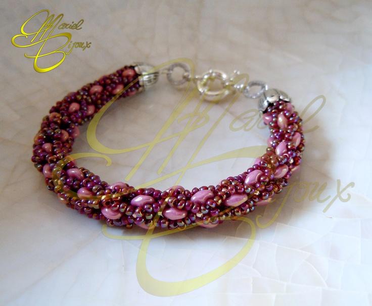 """#Bracciali - #Bracelets """"Diana"""" handmade MarielBijoux tutorial https://www.etsy.com/it/listing/159232294/tutorial-bracciale-diana?"""
