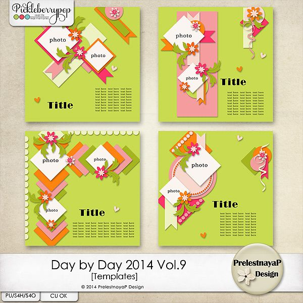 Day by Day 2014 Vol.9 Templates by PrelestnayaP Design