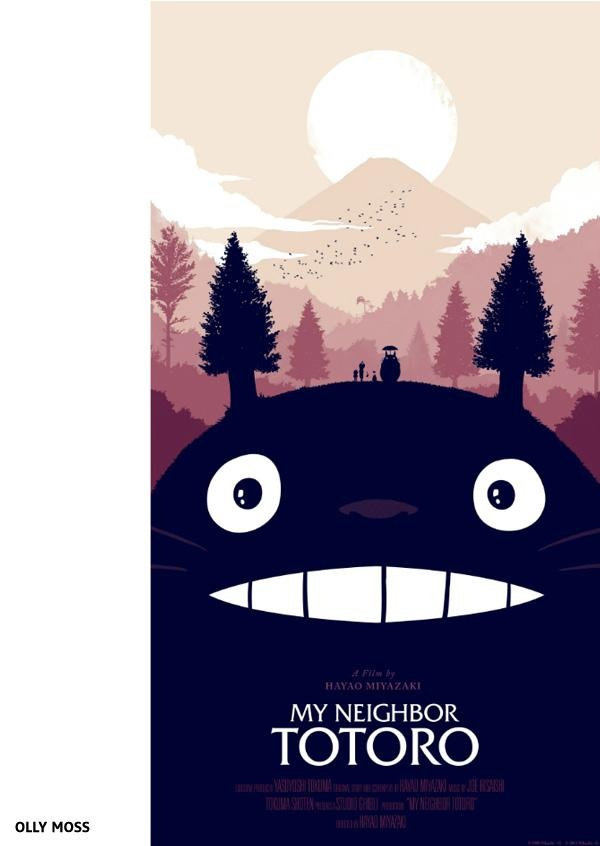 My Neighbor Totoro by Olly Moss