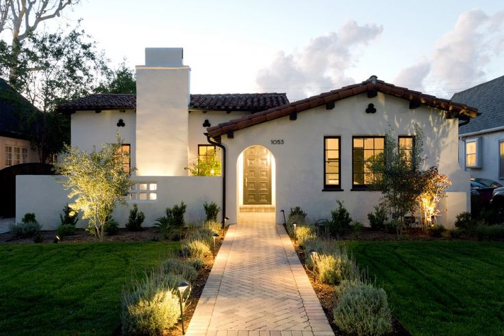 A Captivating Update for a Spanish Style Home | Interior Design by Jesse DeSanti of Jette Creative | Photography by Amy Bartlam | Modern Sanctuary | Exterior Inspiration | Spanish Style Exterior | Entry Inspiration | Landscaping Inspiration