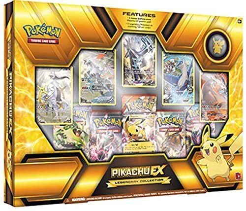 Five booster packs + Online Code Pikachu EX Five full art Legendary Pokemo A Pikachu Pin Product is Release and Ship on 11/18