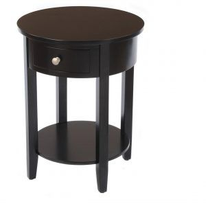 Small Round Side Table With Drawer