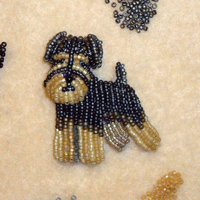 Собаки в работах Diana Grygo: забавные питомцы из бисера - Ярмарка Мастеров - ручная работа, handmade