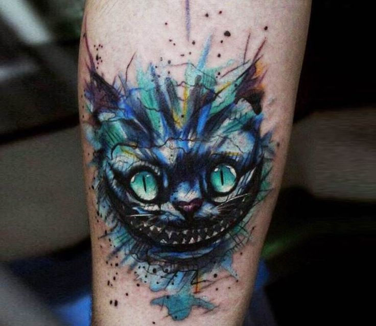 Cheshire Cat tattoo by Andrey Stepanov
