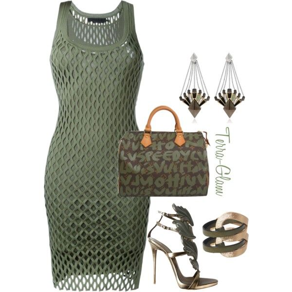 Olive Oh My! by terra-glam on Polyvore featuring polyvore, fashion, style, Alexander Wang, Giuseppe Zanotti, Louis Vuitton, Eddie Borgo and clothing