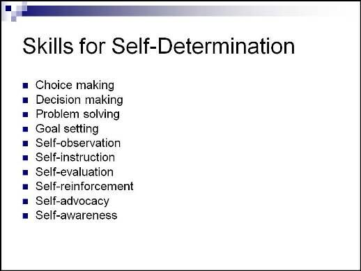 Synonyms for self determination
