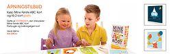 ÅPNINGSTILBUD: Mine Første ABC Kort: Festpakken: Få både boken og bursdagskort til kr 298,-  Leseglede og bokstavlek i hvert eneste øyeblikk <3