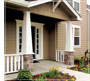 Craftsman porch columns column wraps exterior for Porch column styles