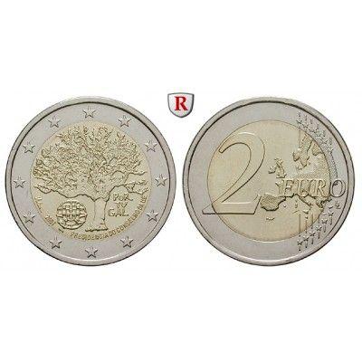 Portugal, Republik, 2 Euro 2007, bfr.: Republik seit 1910. 2 Euro 2007. EU Ratspräsidentschaft. bankfrisch 5,00€ #coins