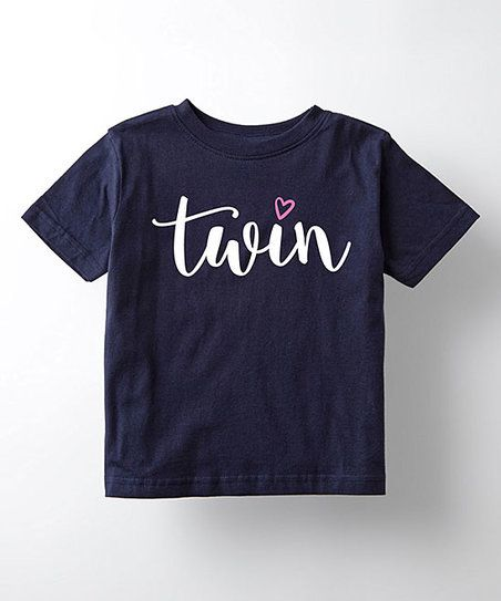 Navy Twinsies Twin Tee - Toddler & Girls | zulily