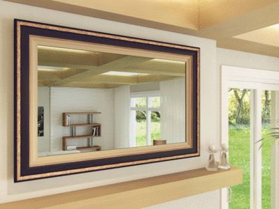 TV Mirror By FrameMyTV   Dielectric TV Mirror / OptiClear Electric Mirror