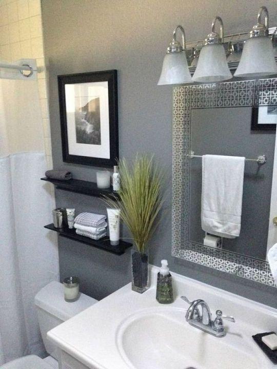 44+The War Against Bathroom Shelves Over Toilet Diy Small Baths Powder Rooms 3 -…   – Jess/Matt