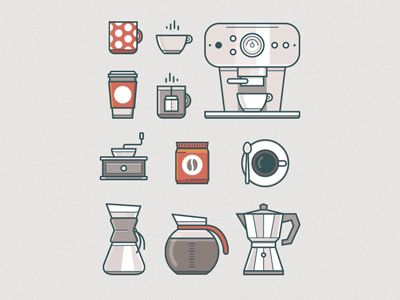 Coffee icons dribbble