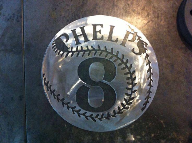 Custom Baseball Sign By Cardwell Metal Works On Fb Plasma
