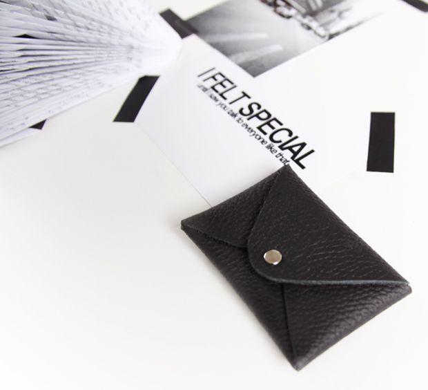 DIY Leather Business Card Holder Tutorial