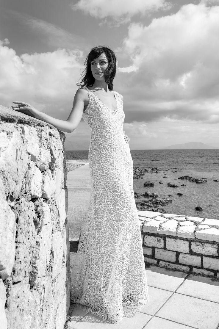 Sparkling wedding dress by Marianna Kastrinos.