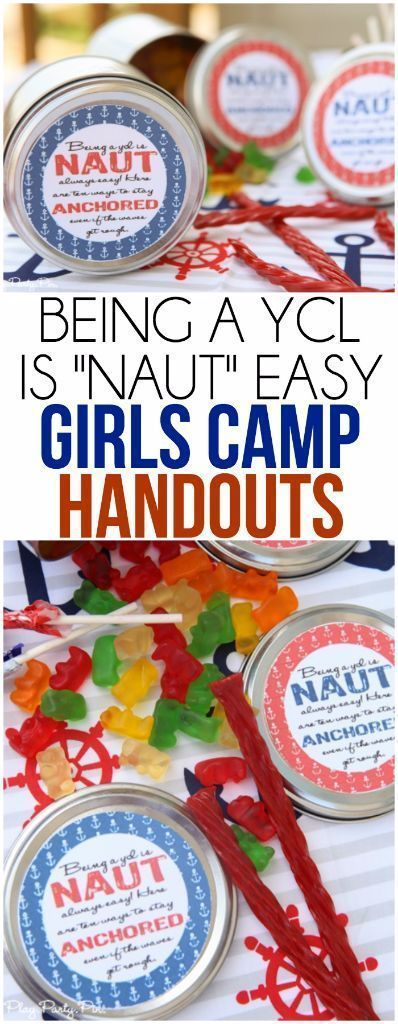 Girls camp handout ideas, great for YCL training or YCL gifts. Love these nautical themed girls camp pillow treat ideas! #CampingPillow