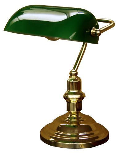 Bankiers denk lamp (notaris lamp) - two of these on White nightstands either Side of the bed :)