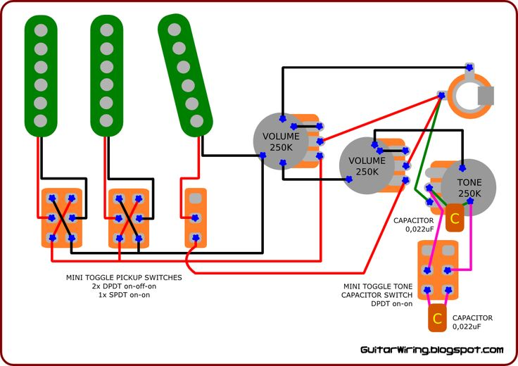 dual tone stratocaster capacitor diagram dual battery