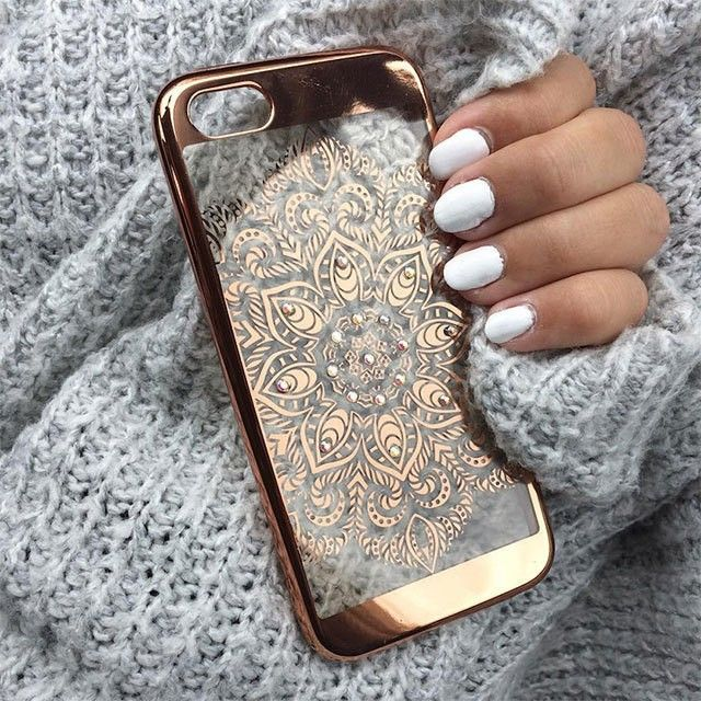 Make your phone sparkle with our rose gold mandala phone case ✨ @threeofoctober Item: 09328