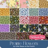 Prairie Flowers Yardage<br />Little House on the Prairie for Andover Fabrics