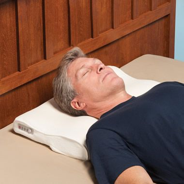The Snore Activated Nudging Pillow - Hammacher Schlemmer. $150?!? But if it works....