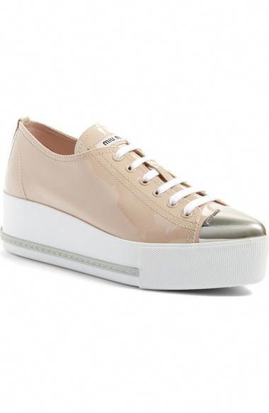 fa9e4fec219 MIU MIU Platform Pointy Cap Toe Sneaker (Women).  miumiu  shoes ...