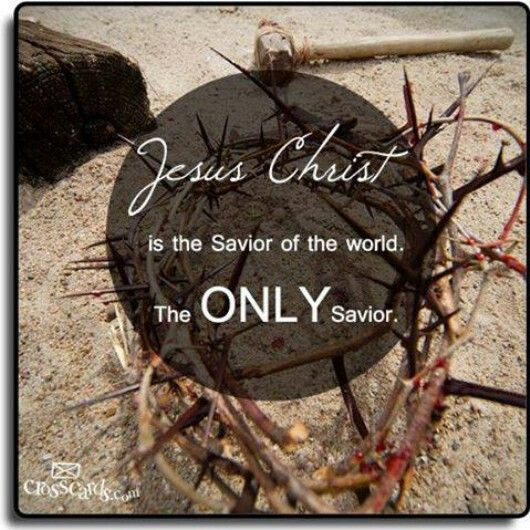 is jesus the only savior Not only is jesus the savior, but the only way to truly breathe more easily is to put one's faith in him, for there is no other name under heaven given among men by which we must be saved (acts 4:12 cf 105-6.