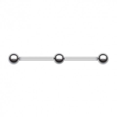 https://piercing-pure.fr/p/907-piercing-industriel-acier-triple-billes.html #barreindustrielle #barreoreille #piercing #piercingindustriel #piercingacier
