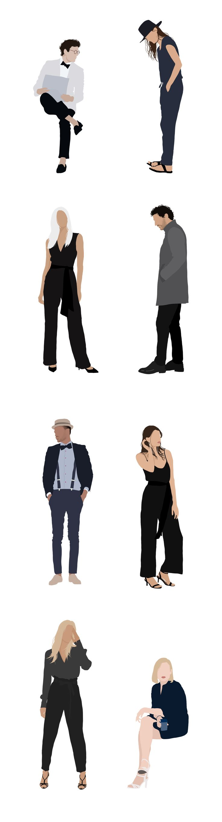 8 People Package Vector Clipart PNG AI Human Person Illustration Woman Man 8 People Package Vector