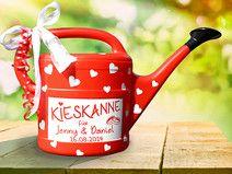 """Geldgeschenk """"Kieskanne"""" zur Hochzeit - in Rot"""