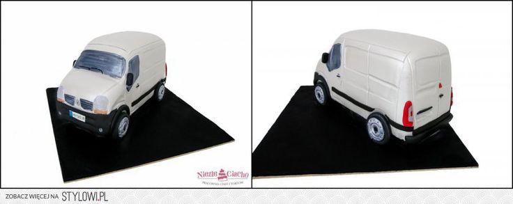 Samochód, transporter, tort dla kierowcy, tort w kształcie samochodu, śmieszne torty, Tarnów