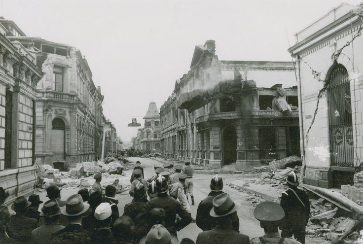Calle de Concepción , después del terremoto de 1939