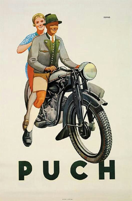 Puch Vintage Poster 1937