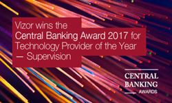 Vizor Software Named 'Technology Provider of the Year – Supervision' at Central Banking Awards 2017