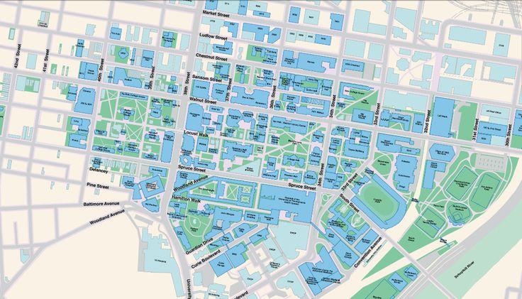 university of pennsylvania campus map upenn pinterest campus map