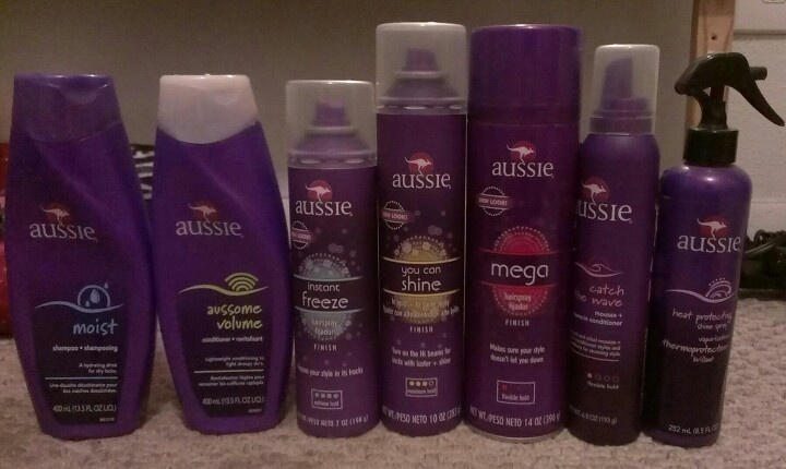 Aussie Hair Products....Leaves my hair feeling amazing ...loves it