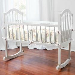 Shabby Chenille Cradle Bedding