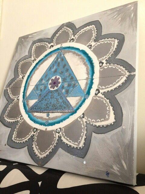 Mandala art. Light blu silver...Complete...