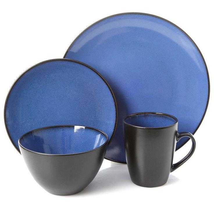 Gibson Home Soho Lounge 16-pc. Dinnerware Set, Blue