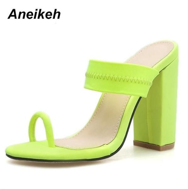 New Sandals Slippers Thin High Heels
