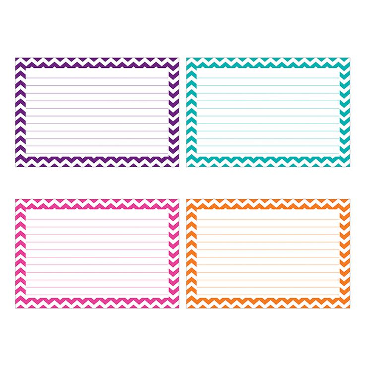 72 best Chevron Classroom Decorations images on Pinterest - index card template