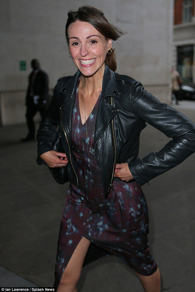 Loving life: Suranne Jones was out and about in London on Monday promoting the mini-series...