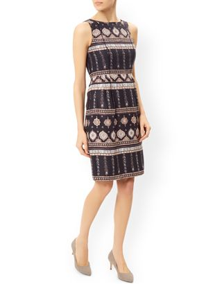 Leticia Print Dress | Black | Monsoon