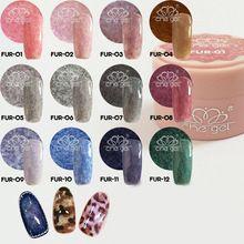 Long Lasting Faux Fur Effect Polish Soak Off UV LED Nail Art Gel...