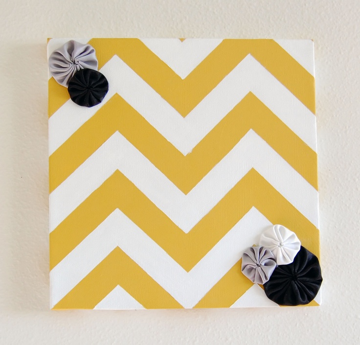 Cute chevron board.  For displaying baby advice at the shower and send home with mama?