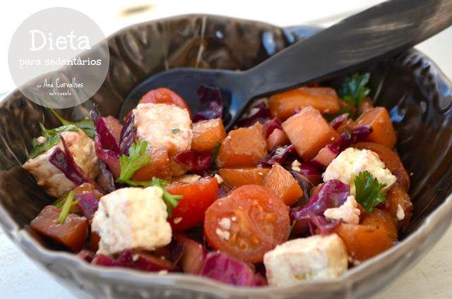 Comer bem até aos 100...: SALADA DE ABÓBORA COM QUEIJO FETA