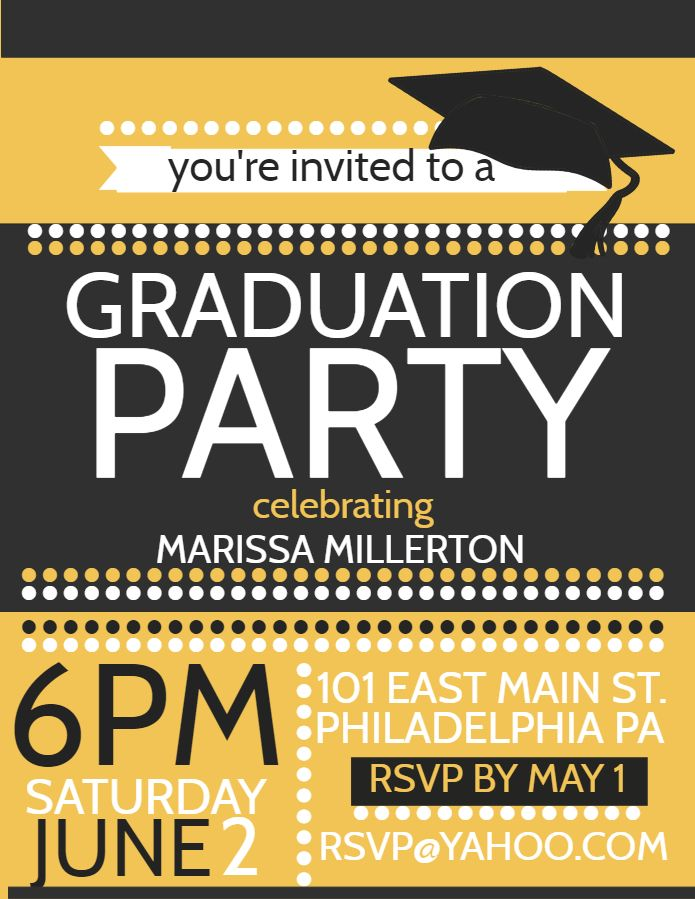 Pin On Graduation Announcement And Party Poster Templates